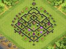 Faarming TH 8 Clash of Clans Base Layout