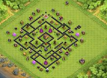 The Black Beatle 2.0 TH 8 Clash of Clans Base Layout
