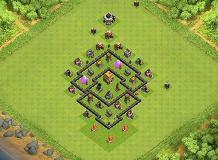 NUBE's TH 5 Clash of Clans Base Layout