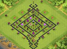 My TH8 setup TH 8 Clash of Clans Base Layout