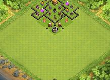 For trophy TH 4 Clash of Clans Base Layout