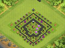 Simple TH8 Farming Base TH 8 Clash of Clans Base Layout