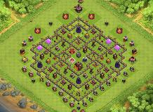 Gg TH 10 Clash of Clans Base Layout