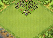 Tanw TH 4 Clash of Clans Base Layout