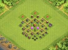 best hybrid layout TH 5 Clash of Clans Base Layout