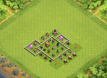 Goal TH 4 Clash of Clans Base Layout