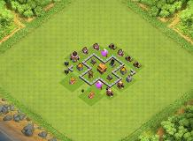 TH3 trophy base TH 3 Clash of Clans Base Layout