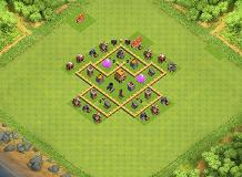 Fluffed's TH5 Hybrid TH 5 Clash of Clans Base Layout