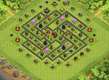 Blu base 1 TH 10 Clash of Clans Base Layout