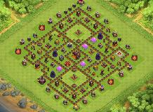 H TH 10 Clash of Clans Base Layout