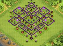 Trophy-Loot Hybrid TH 10 Clash of Clans Base Layout