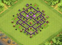 TH7 Hybrid TH 7 Clash of Clans Base Layout