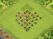 Chardel TH 5 Clash of Clans Base Layout