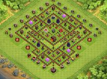 th10 TH 10 Clash of Clans Base Layout