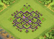 dark elixir TH 7 Clash of Clans Base Layout