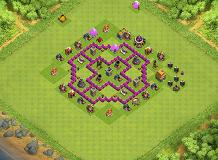 Th6 TH 6 Clash of Clans Base Layout