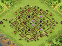 Anti 3 Star Dark Elixir Protection Th10 TH 10 Clash of Clans Base Layout