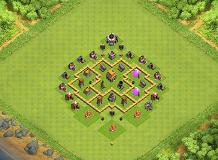 Authen TH5 TH 5 Clash of Clans Base Layout