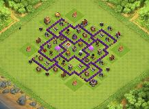 Aath7 TH 7 Clash of Clans Base Layout