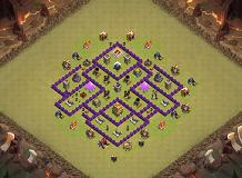 gegegege TH 7 Clash of Clans Base Layout