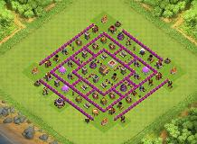 TH8 Center Defense Base TH 8 Clash of Clans Base Layout