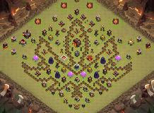 ninja layout TH 10 Clash of Clans Base Layout