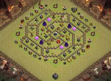 Baest war TH 9 Clash of Clans Base Layout