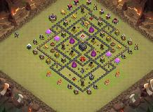 th9 base TH 9 Clash of Clans Base Layout