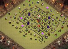 th 10 base TH 10 Clash of Clans Base Layout