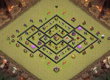 th8 base TH 8 Clash of Clans Base Layout
