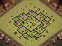 Enemy 1 TH 8 Clash of Clans Base Layout