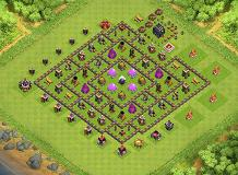 th9 farming base TH 9 Clash of Clans Base Layout