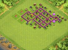 basde pour farm or TH 6 Clash of Clans Base Layout