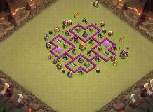 base hdv 6 defensif TH 6 Clash of Clans Base Layout