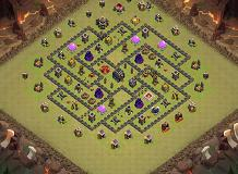 A TH 9 Clash of Clans Base Layout