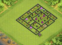 geegee TH 8 Clash of Clans Base Layout