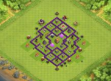 piop TH 7 Clash of Clans Base Layout