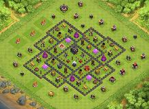 Basic TH9 TH 9 Clash of Clans Base Layout