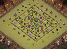 Sqr TH 9 Clash of Clans Base Layout