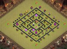 TH8 BEST LAYOUT TH 8 Clash of Clans Base Layout