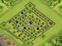 1.0 base TH 9 Clash of Clans Base Layout