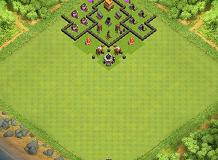 Th4 Wall TH 4 Clash of Clans Base Layout