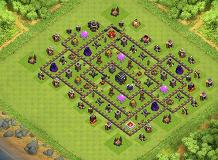 gang layout TH 9 Clash of Clans Base Layout