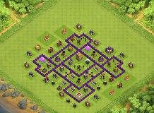 The Castle TH 7 Clash of Clans Base Layout