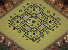 bruh2 TH 9 Clash of Clans Base Layout