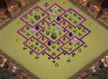 guerra TH 9 Clash of Clans Base Layout