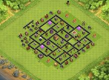 TH8 TH 8 Clash of Clans Base Layout