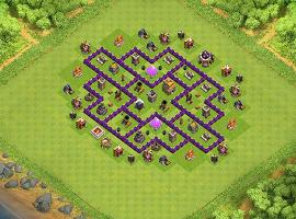 Stronghold TH 7 Clash of Clans Base Layout