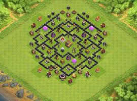 Head Hunter TH 8 Clash of Clans Base Layout