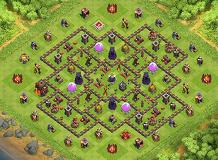 PERFECT FARMING TH10 TH 10 Clash of Clans Base Layout